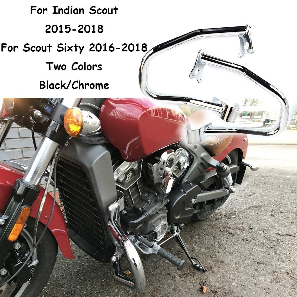Black Freeway Engine Guard Frame Crash Bar For Indian Scout Sixty 2016-2018