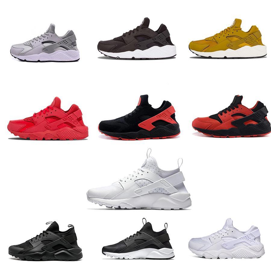 Huarache 4.0 1.0 Chaussures de course Hommes Femmes triple noir blanc rouge Rose formateurs Huraches Breathe Sports Athlétiques Sneakers Taille 36-45 # 0b932 #