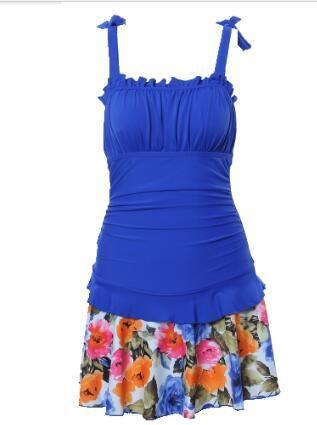 18 19 Yeni Bayan Siyam tarzı yüzmek elbise küçük göğüs ince ince kapak göbek kaplıca çabuk kuruyan yüzmeye aşınma üst quanlity iyi oldu toplamak