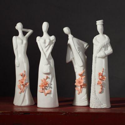 2019 четыре сезона символы керамические украшения для дома характер украшения ремесла нефрит ручной узлом китайский стиль гостиной украшения