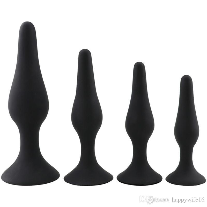 4 Tamaños y silicona Sexo de silicona Sexo anal Diferentes juguetes Hombres Piezas Enchufes Toys Sex Toys Per Oudad