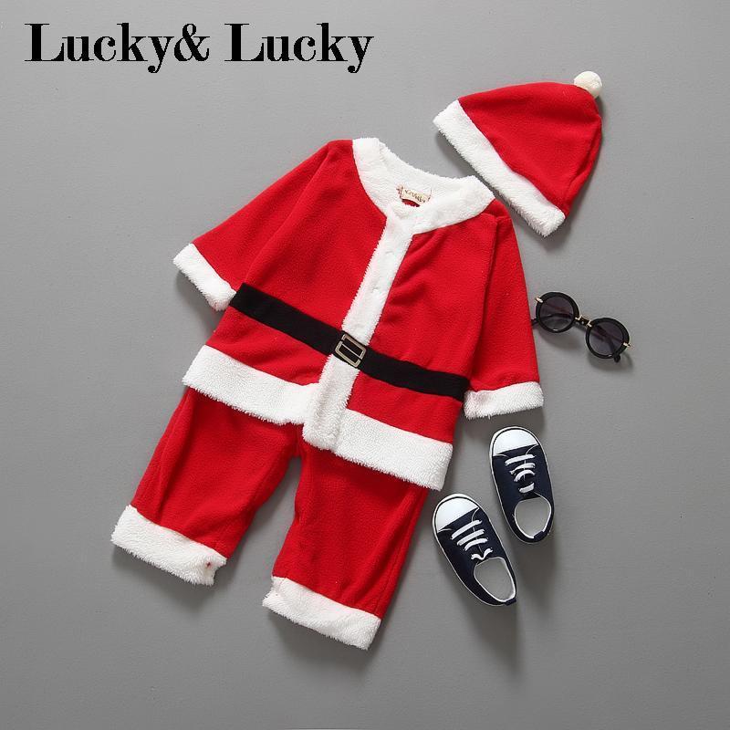 bebek erkek çocuklar için Noel Baba kostümü infantil Noel bebek kıyafetleri yeni için yenidoğan bebe tulum