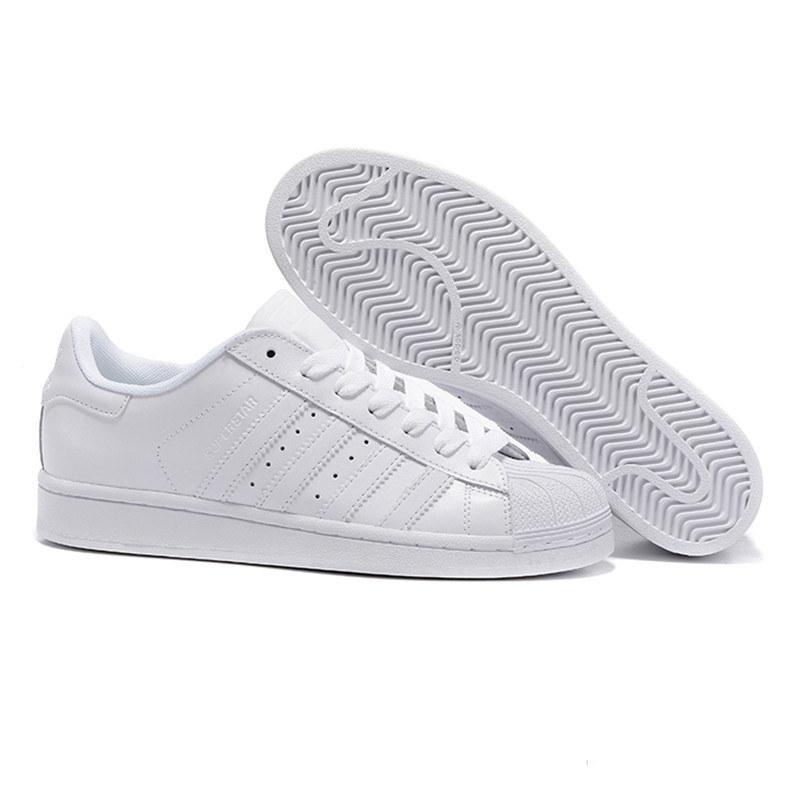 Großhandel Adidas Superstar Kostenloser Versand Superstar Weiß Schwarz Rosa Blau Gold Superstars 80er Jahre Pride Sneakers Super Star Frauen Männer