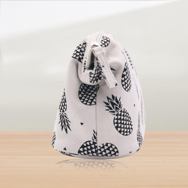 2020 nouvelles dames sac à cosmétiques sac de rangement simple mode toile femmes cosmétiques couleur unie occasionnels de