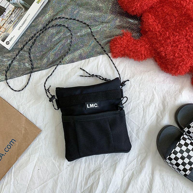 versión coreana de la marea calle enfriar el hombro rejilla deportivo ligero bolsa de bolsa de tela bolsa de viaje mensajero salvaje