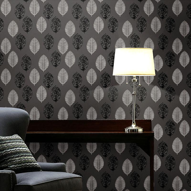Unique Luxury Classic Wall Paper Home Decor Background Wall Damask Wallpaper black and white Wallcovering 3D velvet Wallpaper Living Room