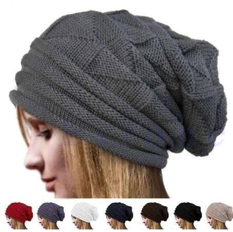 HIRIGIN Yeni Sıcak Erkek Kadın Örgü Boy Baggy Hımbıl Beanie Sıcak Kış Şapka Kayak Chic Kap Kafatası Taze Moda Sonbahar Kız