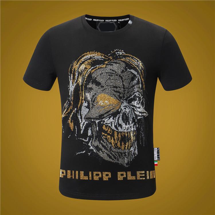 2020ss algodão qp t-shirt verão nova classe alta impressão de manga curta painel em torno do pescoço T-shirt de luxo Tamanho: mulheres M-xxxxl- crânio TOP K2