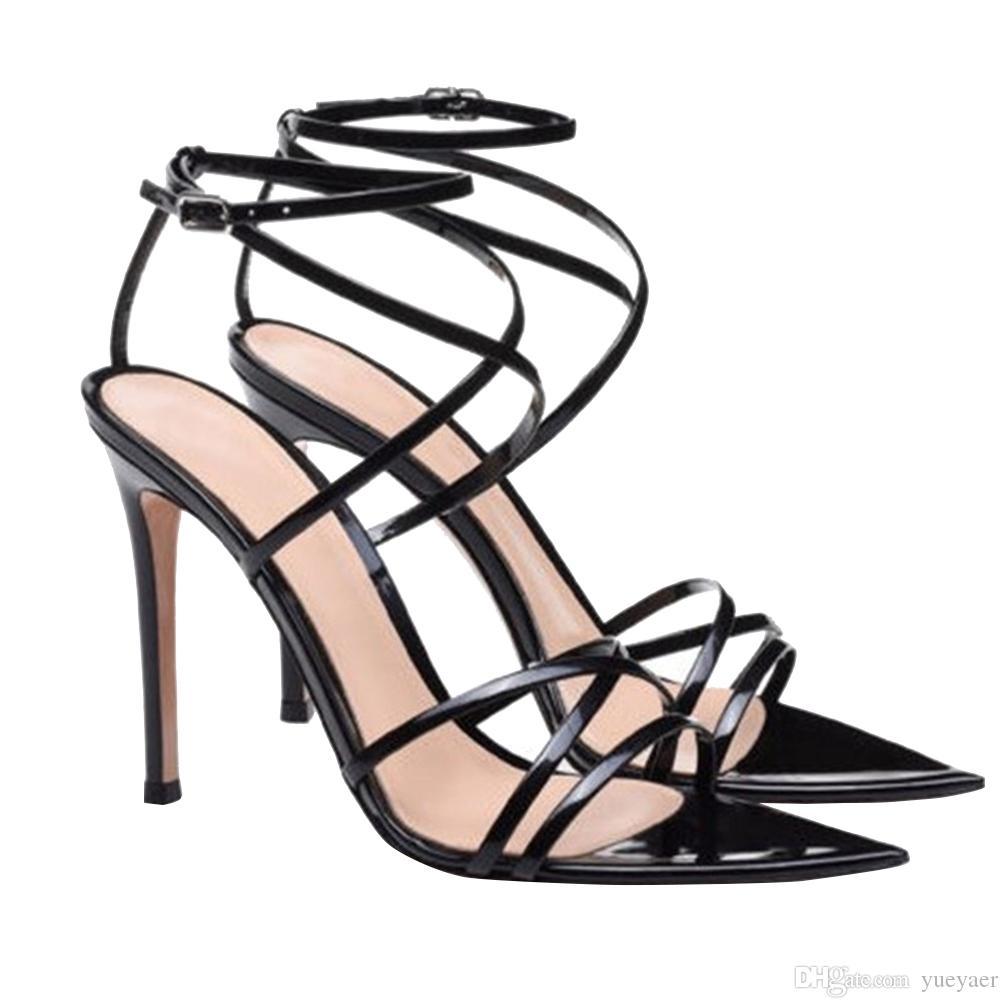Kolnoo Sexy Ladies sandálias de salto alto OfficeCareer Dress Shoes Cruz Buckle Correias Toes moda elegante clube de dança Sandálias BFCM Shoes D272