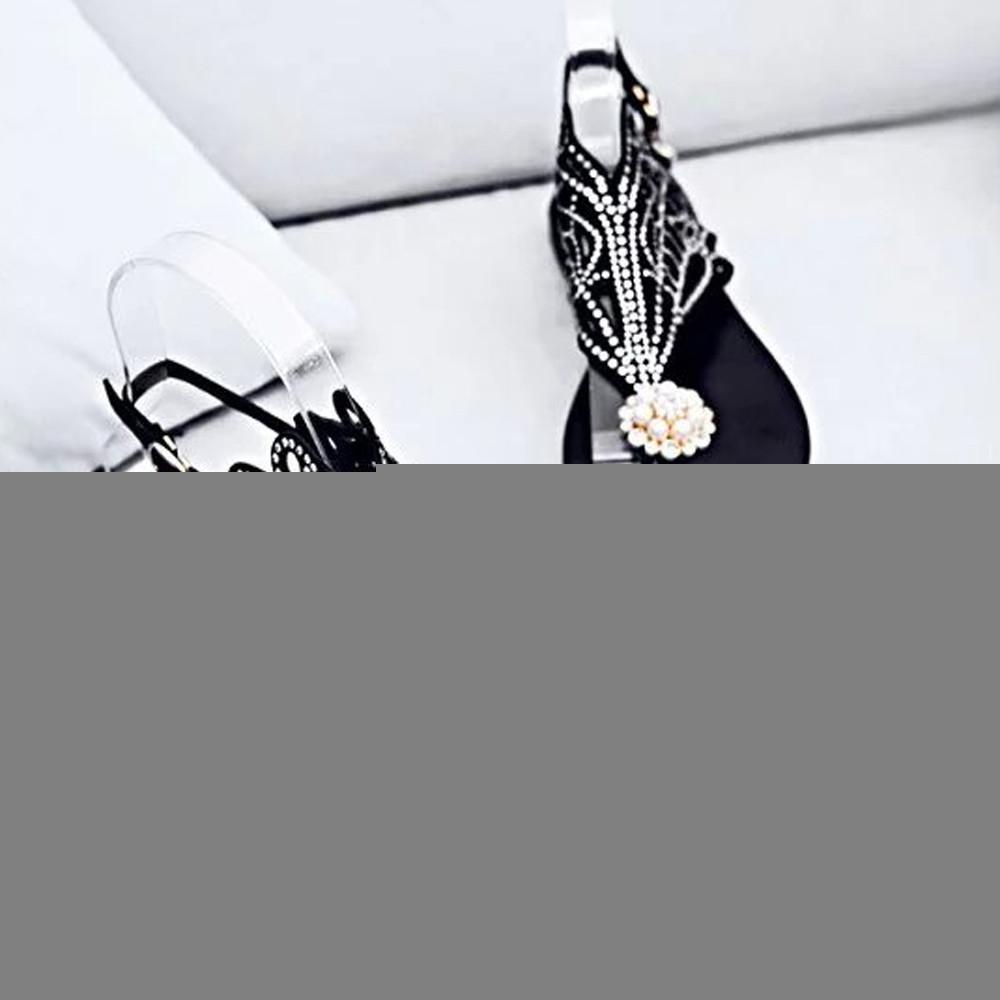 Горячая распродажа-LZJ 2018 старинные летние сандалии платформа Клин высокие каблуки стразы пляж Рим сандалии тапочки