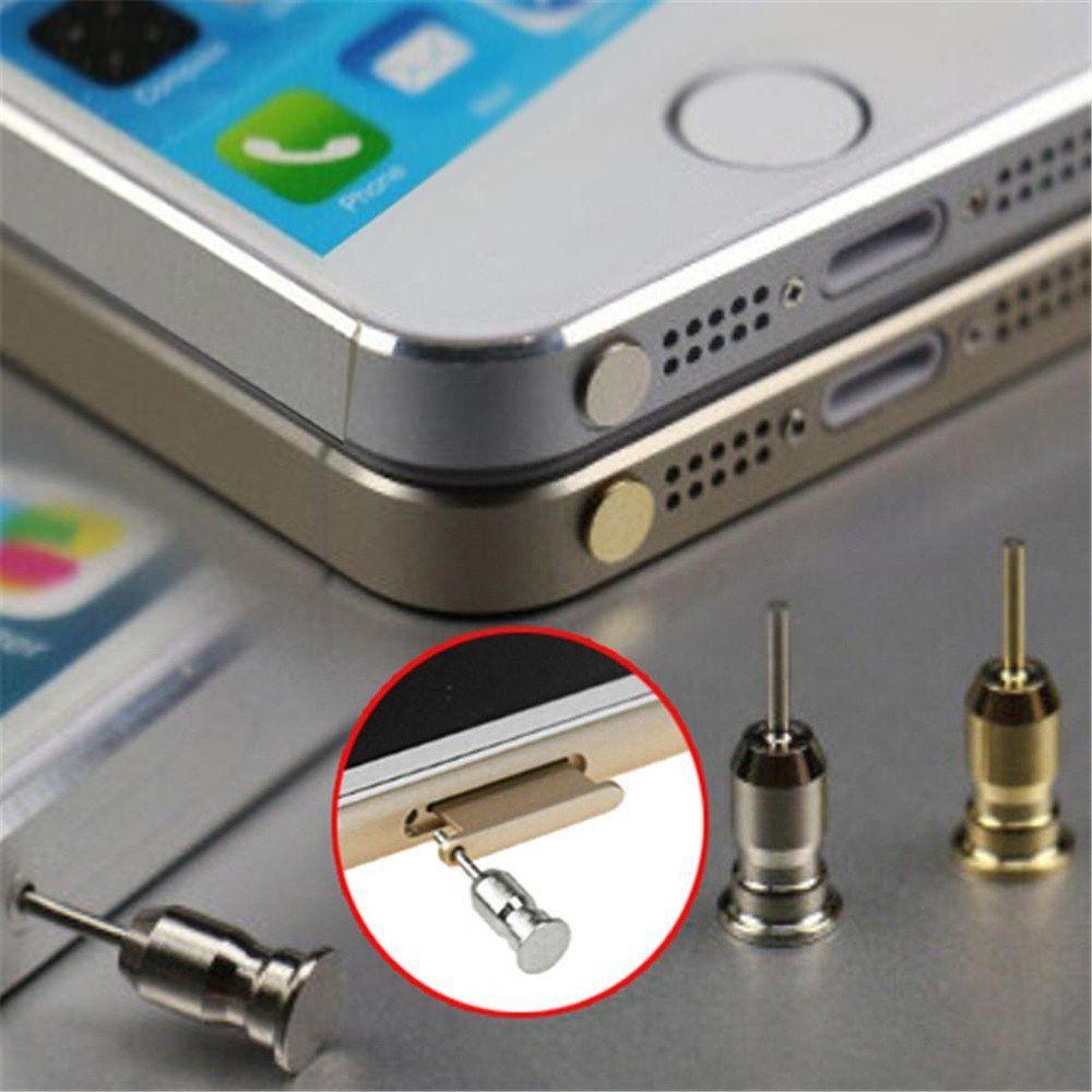 Universal Staubdicht Anti Staub Stecker 3,5mm Kopfhörer Klinkenstecker Anti Staubschutzkappe Sim Karte Eject Pin Nadel für Handy Smartphone