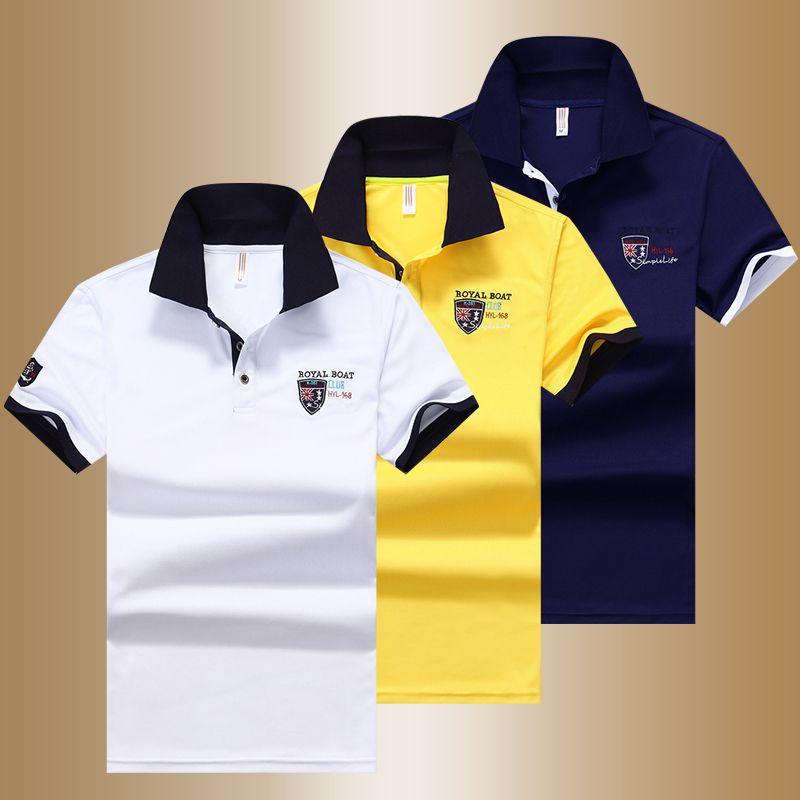 Yihuahoo camisa pólo dos homens de alta qualidade dos homens de algodão de manga curta camisa de verão marca jerseys polos parágrafo hombre tamanho m-4xl jcp-633 mx190711