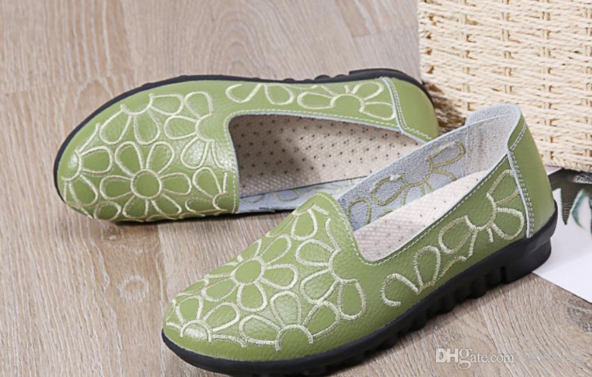 Envío gratis 2018 Primavera Otoño nuevo estilo moda fondo plano Zapatos de mujer @ 68
