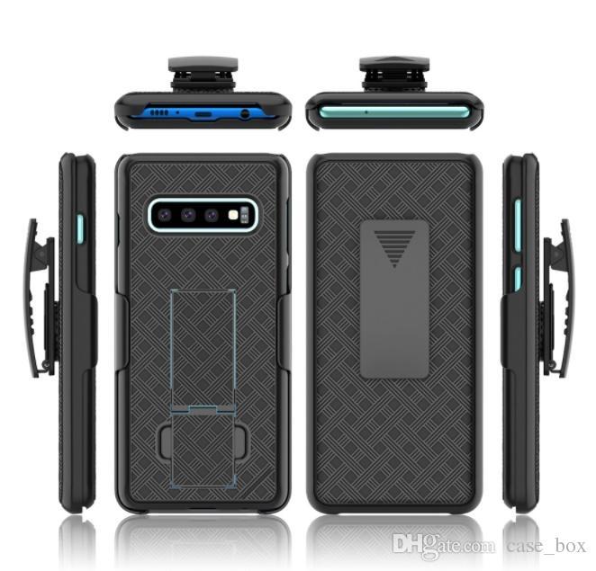 Étui de protection Kickstand hybride pour Defender Rugged Armour pour Samsung Galaxy S10 S10 S9 S9 Plus, couvercle antichoc avec clip de ceinture