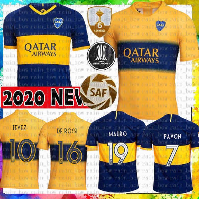 mens thai Boca Juniors Soccer Jersey Tevez 10 MARADONA MAURO # 19 camisa de futebol MEN Abila REYNOSO DE ROSSI Pavón Benedetto Cardona GAGO