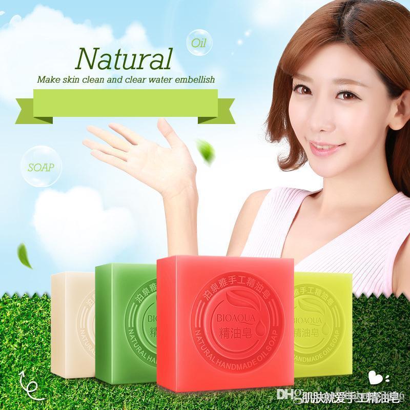 2019 Nova BIOAQUA Vegetal Natural Essencial óleo Handmade Soap Whitening Hidratante remover acne limpa sabão de banho de bambu carvão sabão 100g