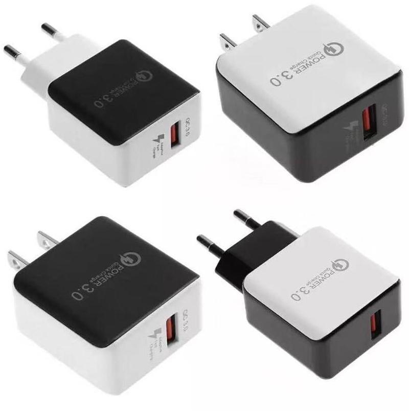 QC 3.0 Rápido carregador de parede USB Quick Charge 5V 3A adaptador 9V 2A Travel Power adaptador de carregador rápido de carregamento para Samsung Huawei HTC