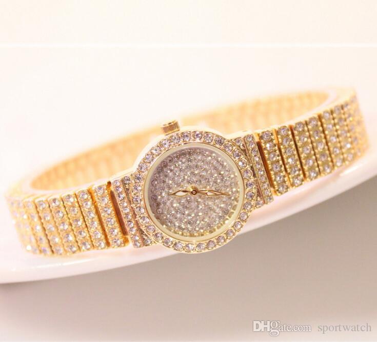Высококачественные алмазные женские часы новые горячие продажа часы 30 м водонепроницаемый сплав ремешок кварцевые часы Бесплатная доставка
