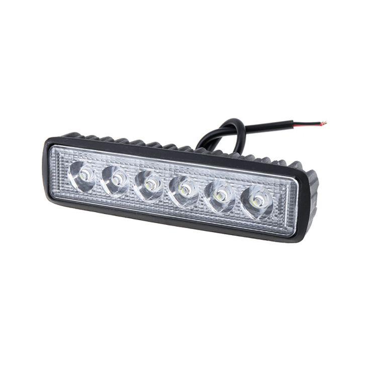 18W 1000LM Brilhante Ponto 6 LED Car Work Bar Driving Nevoeiro Offroad Luz Waterproof Lamp Auto Para Truck / Moto / carro / barco