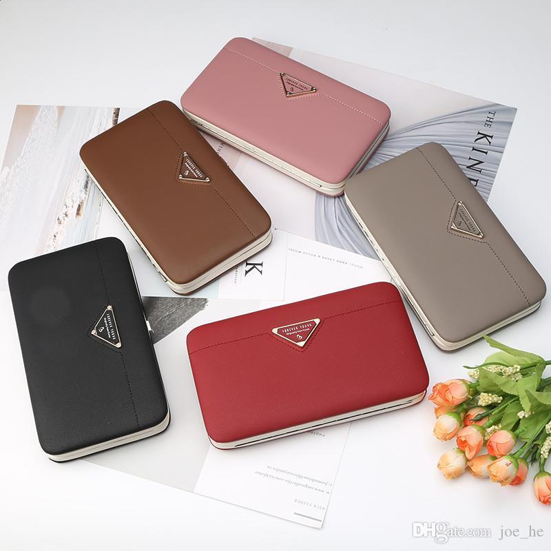 Diseñador-Nueva largo carpeta de las mujeres de la mariposa ahuecada Mejor Monedero Mujer del teléfono de bolsillo de la bolsa del bolso del monedero de las mujeres Carteira Femme