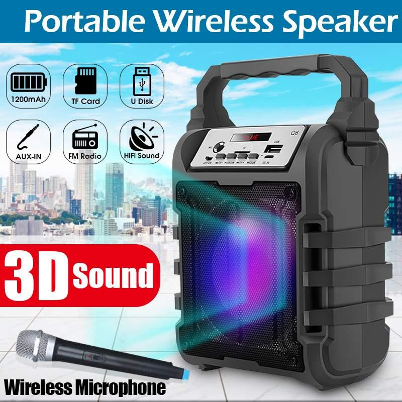 9W Touch Bluetooth Speaker Portable Wireless V3.0 Handsfree AUX Support TF Card