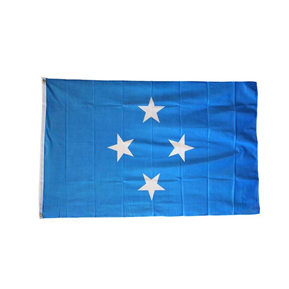 Bandeira de Micronesia 3x5FT 150x90cm poliéster impressão interior Hanging Outdoor Hot bandeira nacional de venda com latão Grommets gratuito Shipping