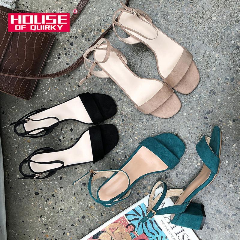 Moda Verão Wedge Mulheres Sandals 2020 New Abrir Toe Suede Buckle Mulheres Bombas Shoes Sexy Prom de casamento cor sólida Lazer sapatos