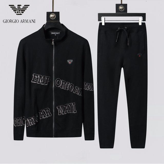 Europa y de alta calidad de dos piezas pantalón suéter de la manera coreana 2019 otoño y el invierno los nuevos hombres de los hombres de los Estados Unidos traje informal LY24087