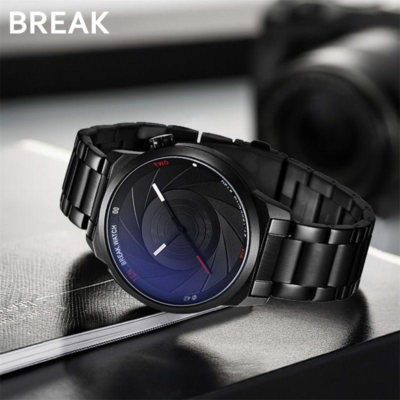 Break Photographer Series Unique Camera Style Stainless Strap Men Women Casual Fashion Sport Quartz Modern Gift Wrist Watches Y19051403