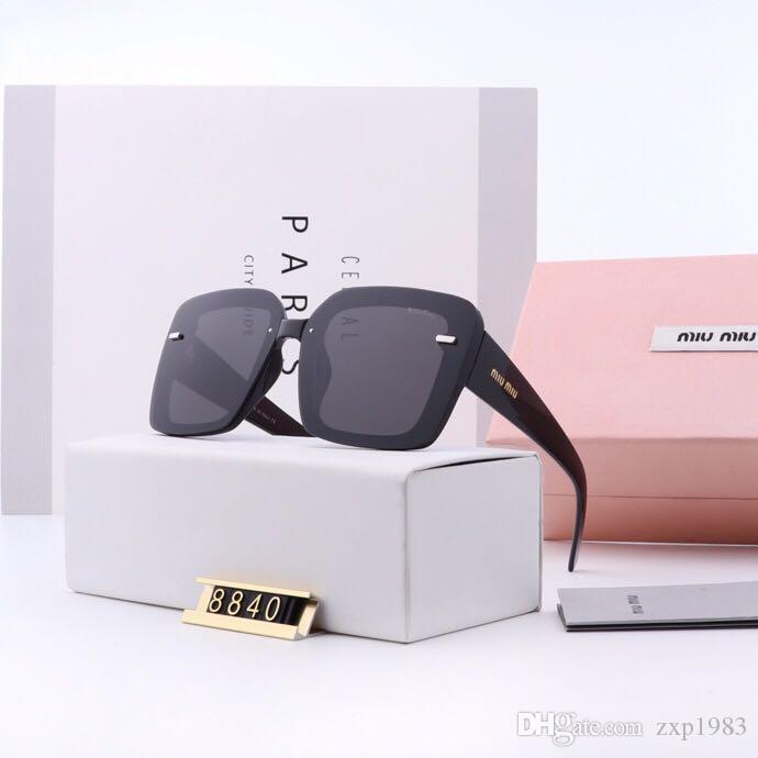 Марка конструктора женщин людей Солнцезащитные очки Планк рама Металлическая петля стекло объектива кошачий глаз солнцезащитные очки UV400 Goggle с розницей случаях и этикетки