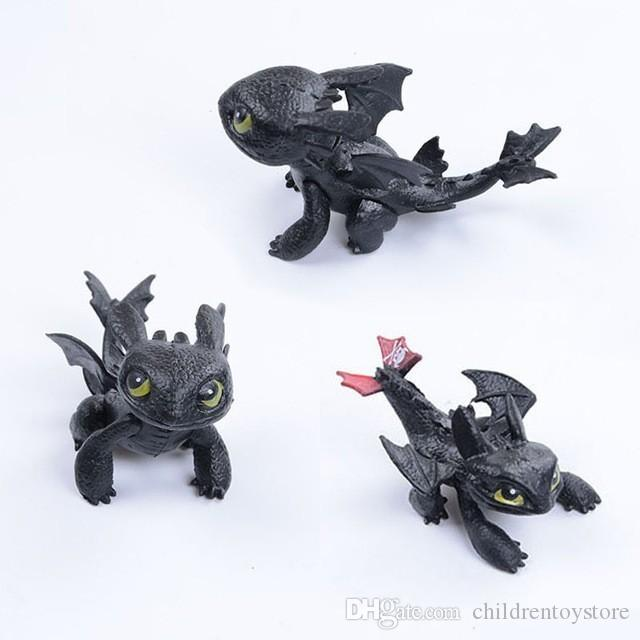 Comment dresser votre dragon Toys nuit Fureur de dragon en peluche Poupée Jouets édenté dragon Figurine Jouets pour enfants Enfants cadeau