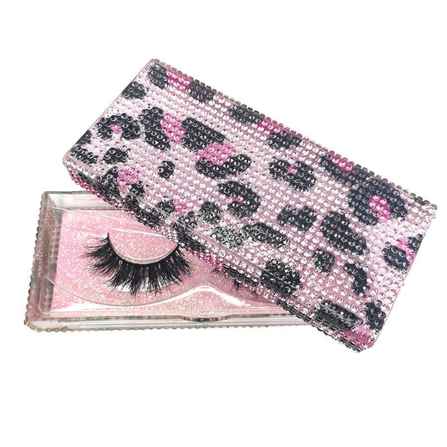 3D Mink cílios de diamante Embalagem Caixas pestanas falsas Praça Leopard embalagens vazias Packaging RRA3055 pestana Caso Box Lashes Box