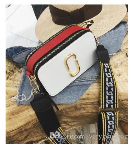 Женская сумка конструктора 2020 Новая мода женская сумка высокого качества PU кожа женщин мешок Простой удар цвета Портативный Наплечные сумки