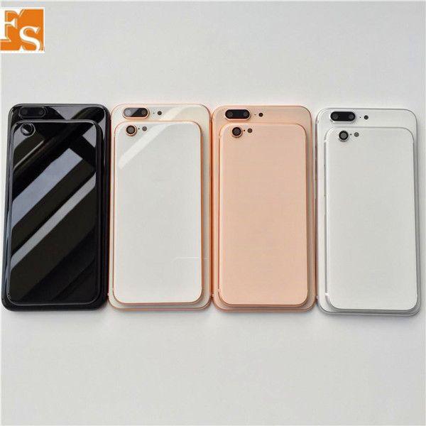 ل iPhone 6s 6 زائد 6s بالإضافة إلى الإسكان الخلفي إلى iPhone 8 الزجاج المعدني نمط