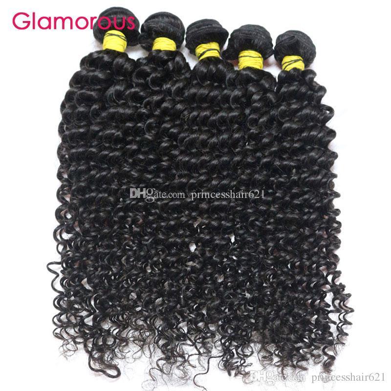 Glamorous Peruwiański Dziewiczy Włosy Uwagi 5 sztuk Jerry Curly Hair Extensions Perfack Kręcone Splot Brazylijski Malezyjski Indian Human Hair Wiązki