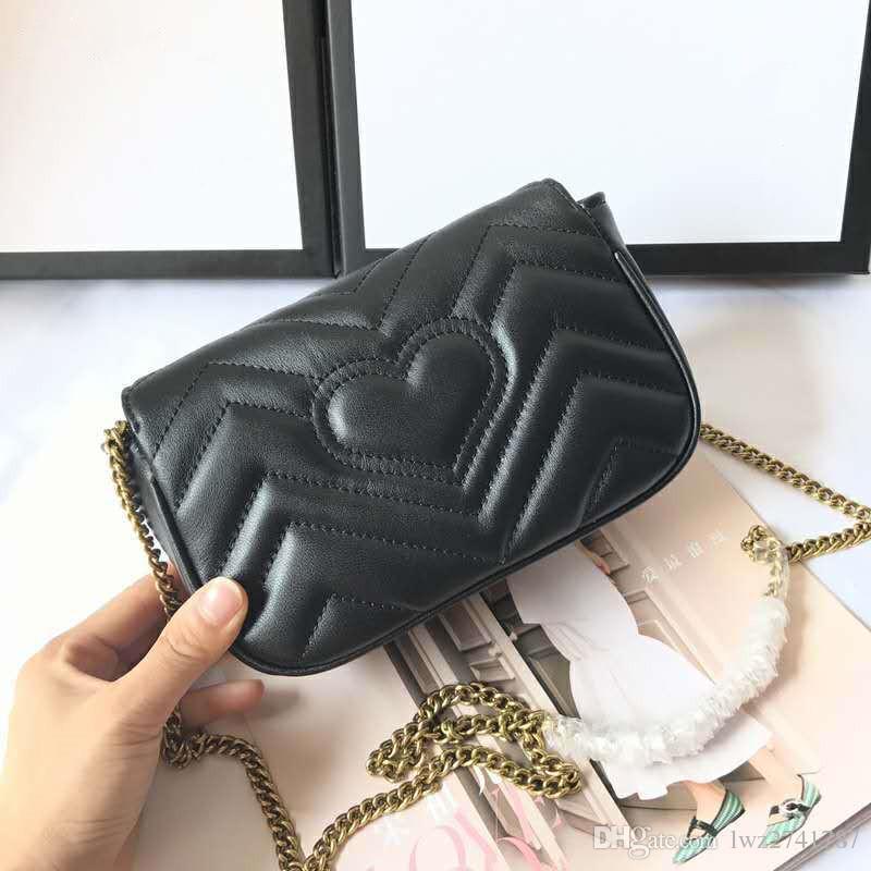 Super nano feita em pele de carneiro verdadeiro saco de mulher bolsa de couro de alta qualidade bolsa bolsa de ombro cluth com saco e caixa