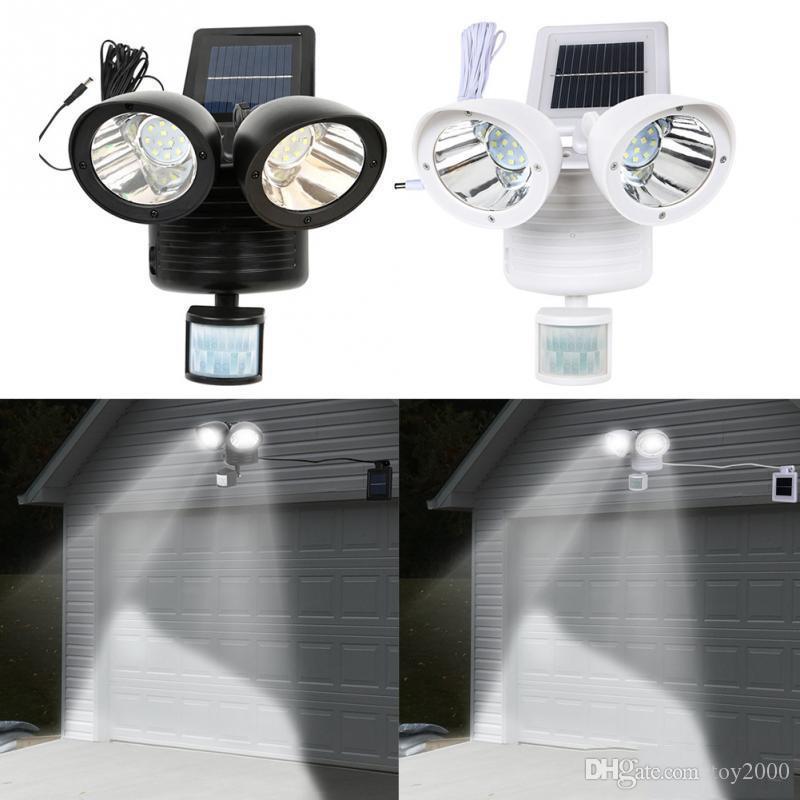 PIR 3-Head LED Motion Sensor Flood Light Outdoor Garden adjustable Lamp IP65