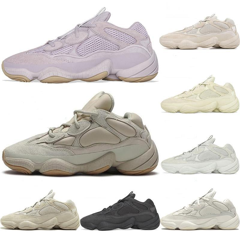 Top Quality Hot Tennis Kanye West 500 Running Shoes Soft Vision Bone White Stone Mens Super Moon Yellow Utility Black Salt Women Sneakers