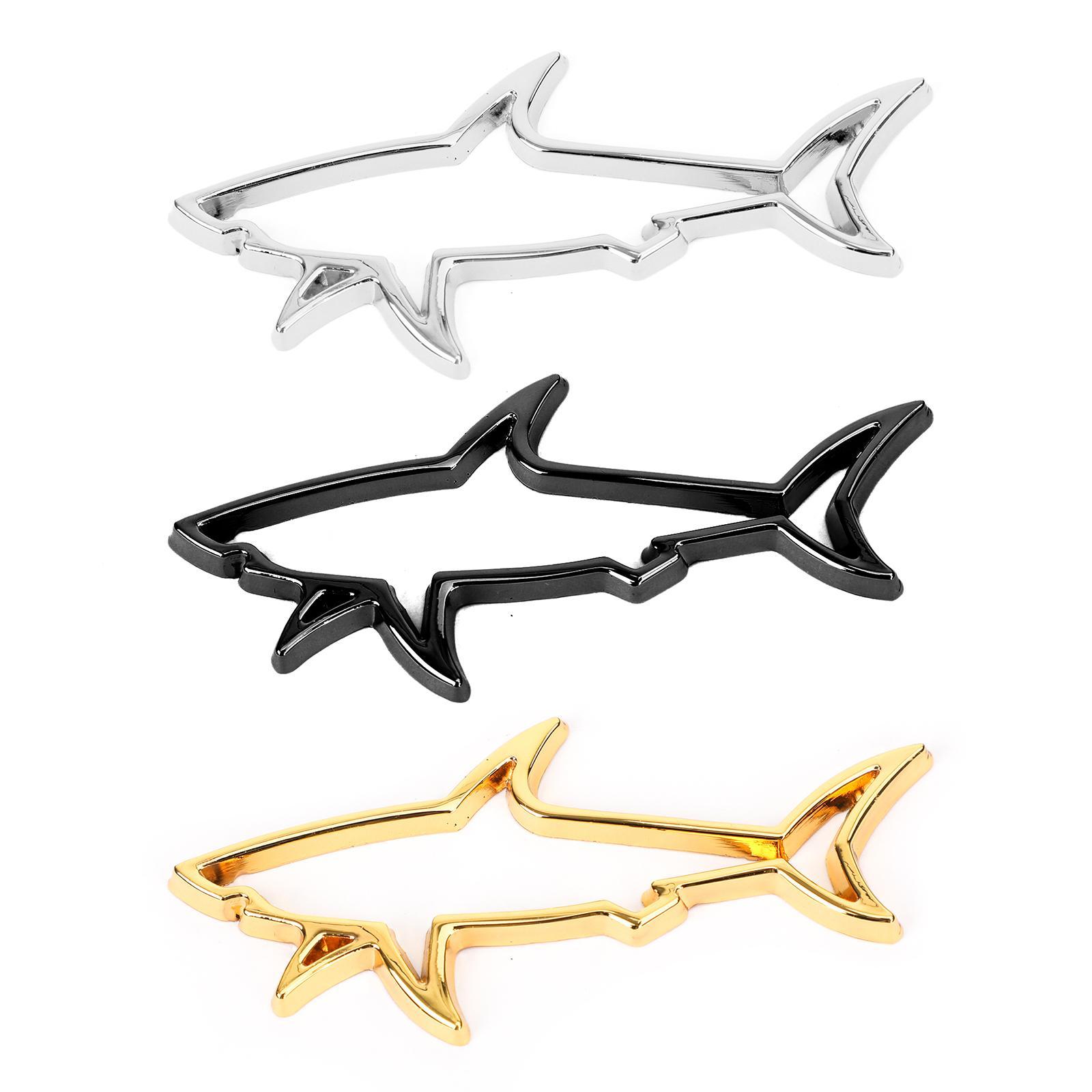 Areyourshop سيارة معدنية جديدة زعنفة القرش سيارة شعار السيارات SUV السمك شارة ملصق مائي لاكسسوارات السيارات اكسسوارات السيارات أجزاء