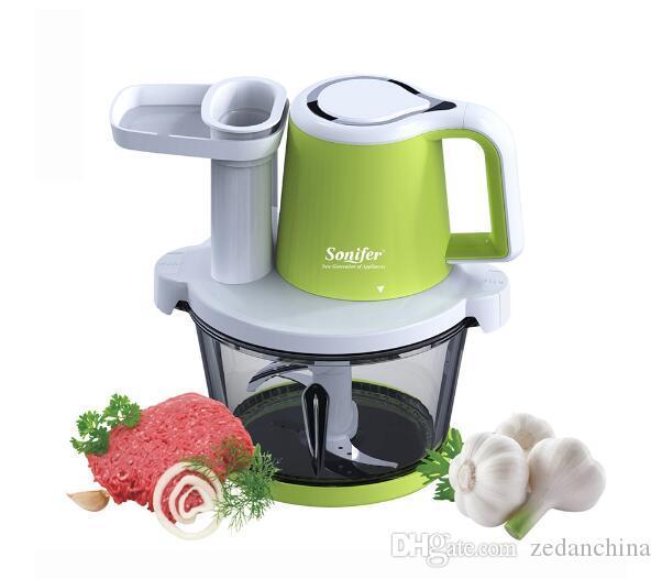 2.5L eléctrico Cocina picadora de carne automática Picado Máquina Trituradora vegetal procesador de carne de la fruta del cortador de alimentos Blender