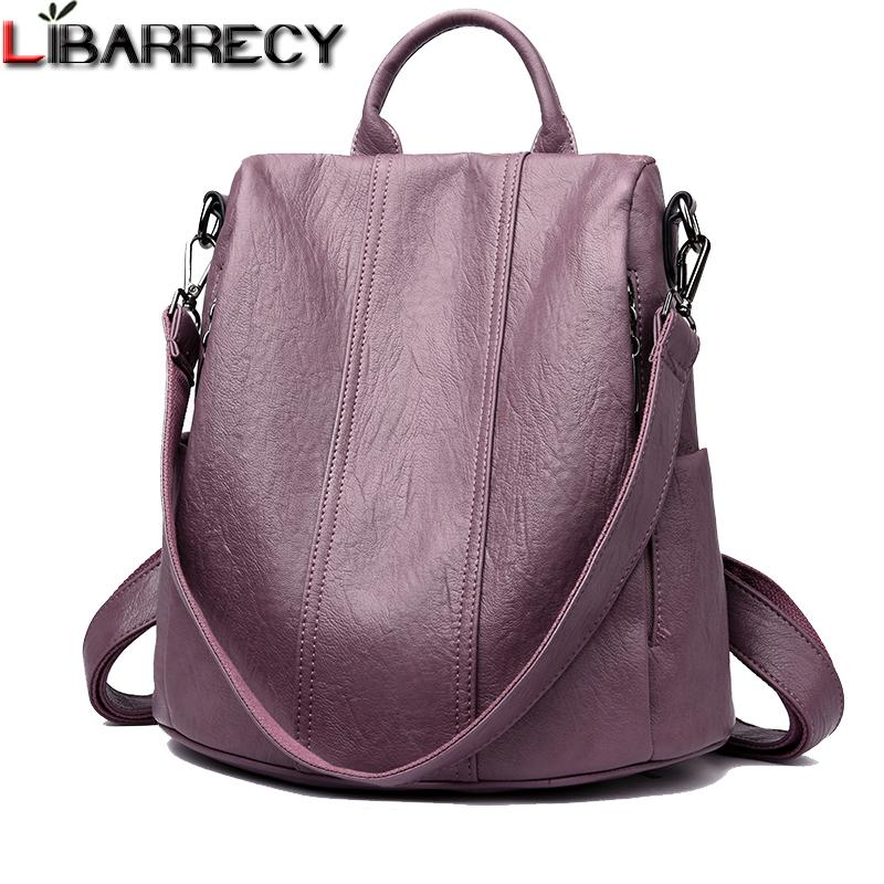 Fashion Simple Backpack Female Waterproof Backpacks For Women Large Capacity School Bags For Girls Brand Anti-theft Travel Bag Y19051405