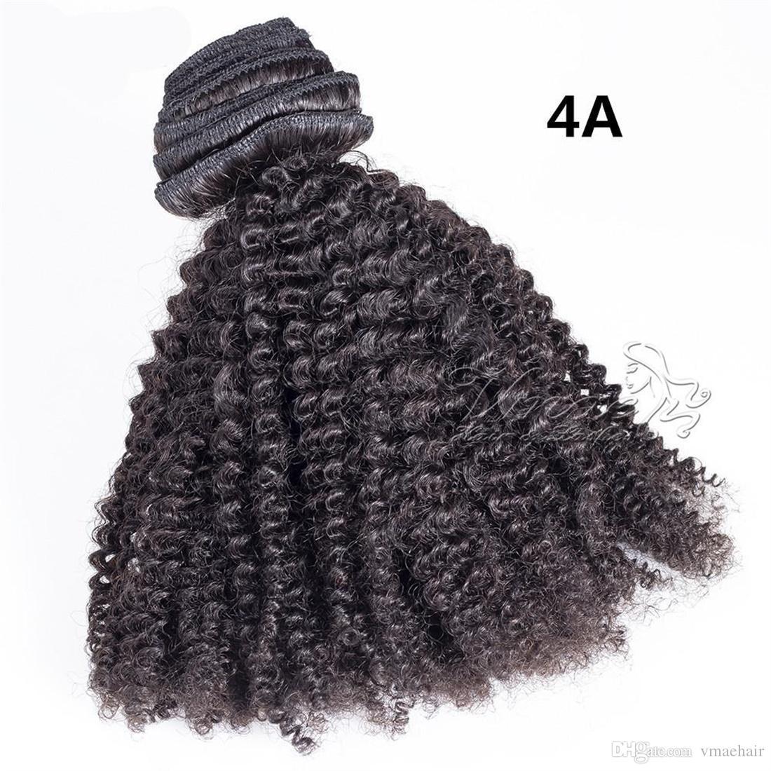 120g 140g 160g 자연 색상 표피 정렬에서 유행 페루 버진 인간의 머리카락 확장 아프리카 곱슬 변태 직선 4A 클립