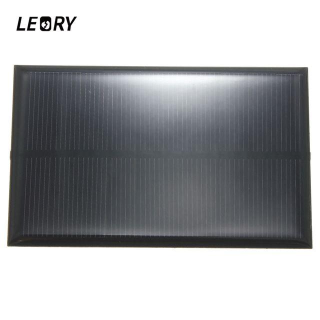 onsumer Eletrônica LEORY Atacado 5V 1.25W 250mA Painel Solar de silício monocristalino Epoxy DIY Solar Cells Módulo Para Celular Bateria ...