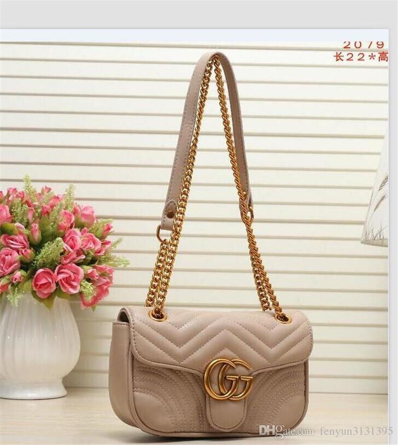 Высокое качество новый дизайнер роскошные женские сумки известный золотой цепи сумки через плечо письмо решетки сумка кошелек Кошелек A020