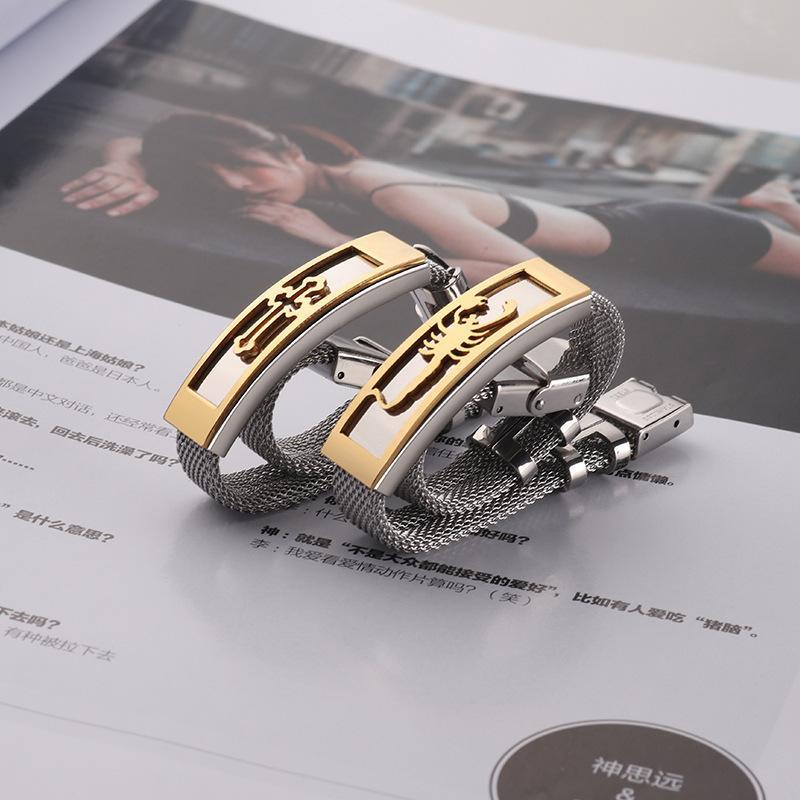 2020 rete di titanio acciaio del braccialetto di modo Scorpion modello Bracciale croce Hollow Bracciale vendita diretta della fabbrica all'ingrosso