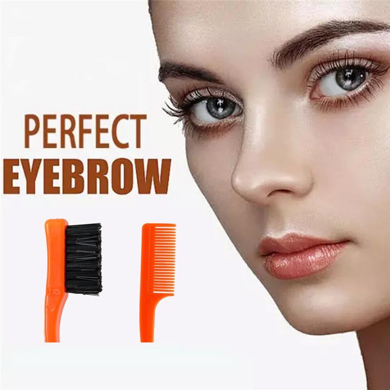 El nuevo maquillaje Cepillos plegable ojo de la pestaña del latigazo del aplicador del rimel Mini extensión portable de la belleza de la ceja del cepillo con la bolsa de pvc