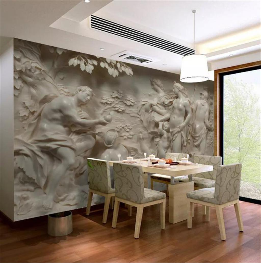 Großhandel Tapeten 3D Gewohnheit 3D Geprägte Europäische Und Amerikanische  Klassische Mythologie Akt Personen Wohnzimmer Schlafzimmer Hintergrund ...