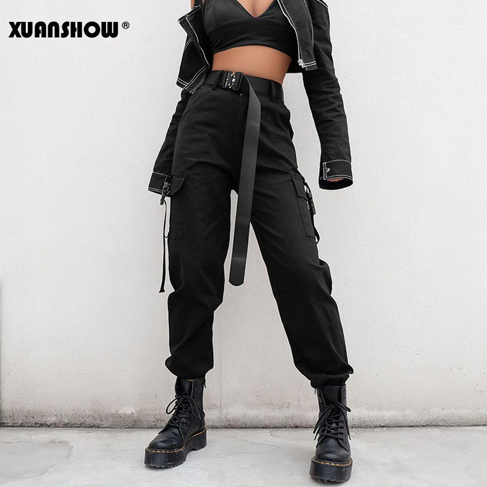 Compre Fashion Xuanshow Streetwear Cargo Pants Mujer Casual Joggers Cintura Alta Pantalones Sueltos Para Mujer Estilo Coreano Pantalones Para Mujer Pantalon Femme A 23 64 Del Tijiu Dhgate Com