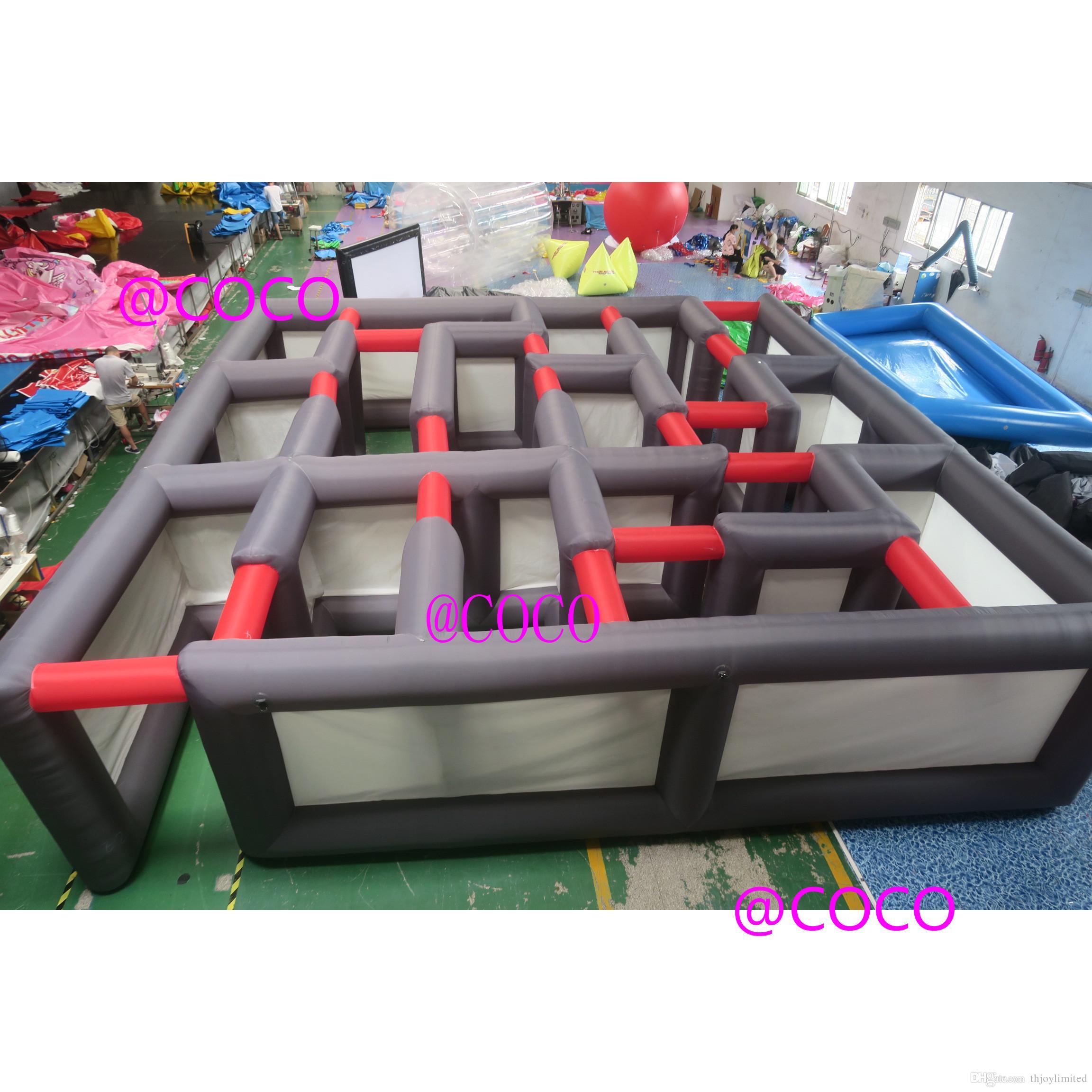 8x8m / 10x10m / 12x12m عملاق قابل للنفخ المتاهة للبيع، التجاري نفخ متاهة الوسم المتاهة متاهة لعبة الألغام