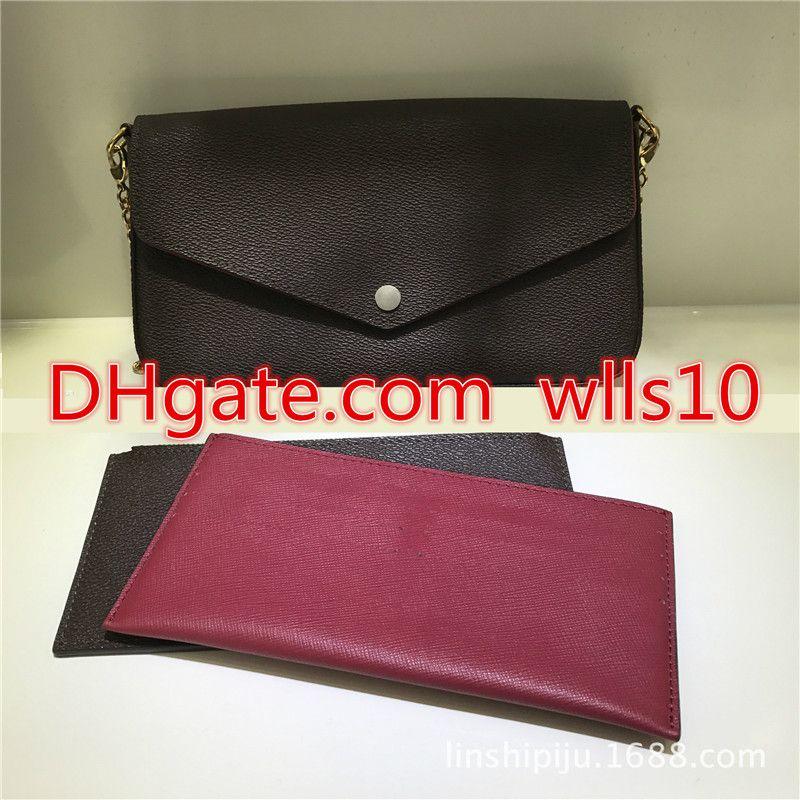 L240 più nuove borse borse borse moda donne dei sacchetti spalla di alta qualità sacchetti di tre pezzi combinazione b Dimensione 21 * 11 * 2 cm 61276 con la scatola